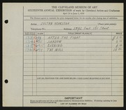 Entry card for Herczegh, Zoltan for the 1934 May Show.