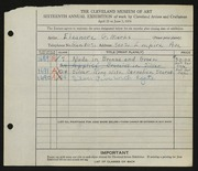 Entry card for Herman, Eleanore Marks for the 1934 May Show.