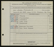 Entry card for Pickands, James, II for the 1934 May Show.