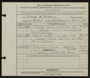 Entry card for Rebeck, Steven A. for the 1934 May Show.
