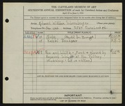 Entry card for Schoenberger, Edward William, and Schlehr, Raymond for the 1934 May Show.