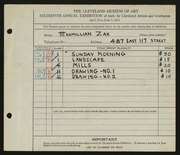 Zak, Maxmillian-1934 May Show