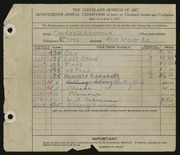Entry card for Ackerman, Charles W. for the 1935 May Show.