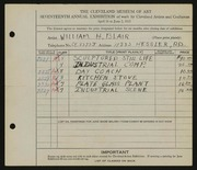 Entry card for Black, Miriam H. for the 1935 May Show.