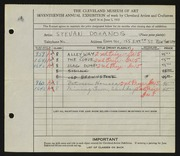 Entry card for Dohanos, Stevan for the 1935 May Show.