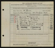 Entry card for Dunn, Louise Morrison for the 1935 May Show.