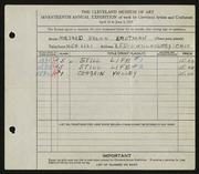 Entry card for Eastman, Mildred Brown for the 1935 May Show.