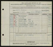 Entry card for Schrauf, Leroy J. for the 1935 May Show.