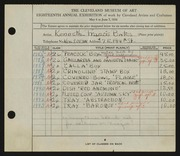 Entry card for Bates, Kenneth F., and Vollman, Fred Anthony for the 1936 May Show.