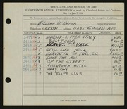 Entry card for Black, Miriam H. for the 1936 May Show.