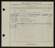 Entry card for Boza, Daniel for the 1936 May Show.