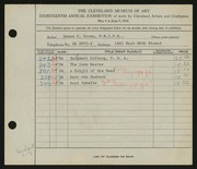 Entry card for Brown, Zenas H. for the 1936 May Show.
