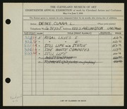 Entry card for Deike, Clara L. for the 1936 May Show.