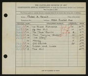 Entry card for Hewit, Mabel A. for the 1936 May Show.
