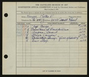 Entry card for Kenyon, Martha E. for the 1936 May Show.