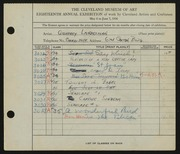 Entry card for Landesman, Geoffrey, and Caxton Company for the 1936 May Show.