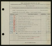 Entry card for Potter and Mellen , and Potter, Horace Ephraim; Weiser, Raymond T.; Naukler, Henning; Potter, H. L. for the 1936 May Show.