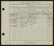 Entry card for Smeed, Eleanor for the 1936 May Show.