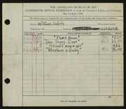 Entry card for Smith, William E. for the 1936 May Show.