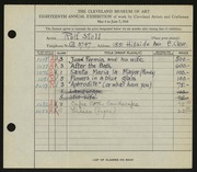 Entry card for Stoll, Rolf for the 1936 May Show.