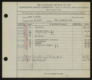 Entry card for Waite, Carl F. for the 1936 May Show.