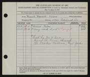 Entry card for Aitken, Russell Barnett for the 1937 May Show.
