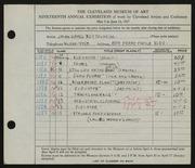Entry card for Bettelheim, Jolan Gross for the 1937 May Show.