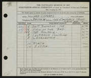 Entry card for Combes, Willard Wetmore for the 1937 May Show.