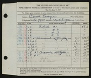 Entry card for Cooper, Dr. Bernard Henry for the 1937 May Show.