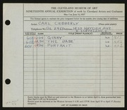 Entry card for Cubberly, Carl for the 1937 May Show.