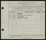 Entry card for Elwell, Kenneth for the 1937 May Show.
