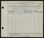 Entry card for English, Herbert C. for the 1937 May Show.