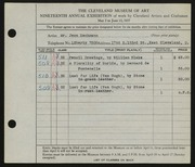 Entry card for Eschmann, Jean C. for the 1937 May Show.