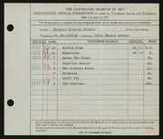 Entry card for Geisler, Frederic William for the 1937 May Show.