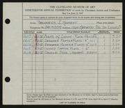 Entry card for Harbst, Frederick J. for the 1937 May Show.
