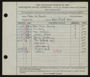 Entry card for Hewit, Mabel A. for the 1937 May Show.