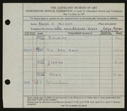 Entry card for Holden, Rhonda E. for the 1937 May Show.