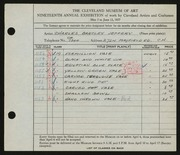 Entry card for Jeffery, Charles Bartley for the 1937 May Show.