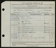 Entry card for Kaufman, Edwin for the 1937 May Show.
