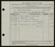 Entry card for Knutsen, Ragnar M. for the 1937 May Show.