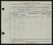 Entry card for Lange, Katharine Gruener, and Dyer, Nora E. for the 1937 May Show.