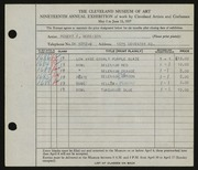 Entry card for Morrison, Robert F. for the 1937 May Show.