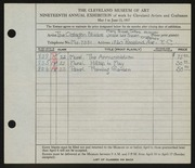 Entry card for Octagon Studios, and Collins, Mary Susan; Fraser, Jessie Lee for the 1937 May Show.
