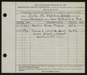 Entry card for Patchin, Erle, M., D.D.S. for the 1937 May Show.