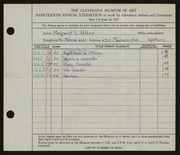 Entry card for Peters, Margaret L. for the 1937 May Show.