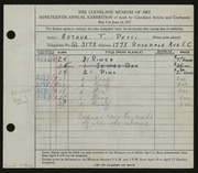 Entry card for Petti, Arthur T. for the 1937 May Show.