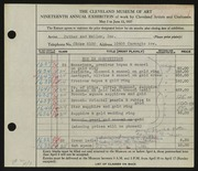 Entry card for Potter and Mellen , and Potter, Horace Ephraim; Weiser, Raymond T.; Naukler, Henning; Potter, H. L. for the 1937 May Show.