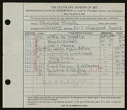 Entry card for Purwin, Sigmund Frank for the 1937 May Show.