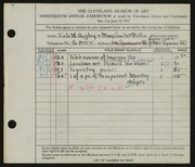 Entry card for Quigley, Viola W., and MacMillin, Mary Ann for the 1937 May Show.