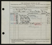 Entry card for Rebman, Herbert for the 1937 May Show.